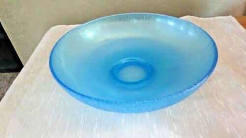 Fenton Celeste Blue Stretch Glass Bowl 8 Inches