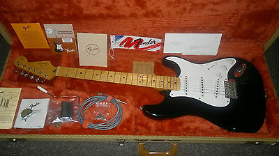 1991 Usa Fender 57 Stratocaster Blackie Ohsc With Candy 1957 Reissue