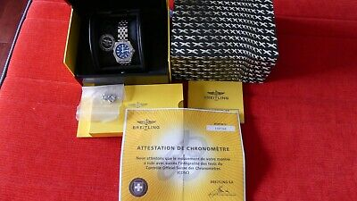 BREITLING Galactic 36 Blue Dial Stainless Steel Automatic Watch