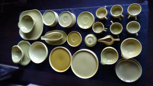 Russel Wright American Modern Steubenville Chartreuse 81 pieces SUPER SET EXC