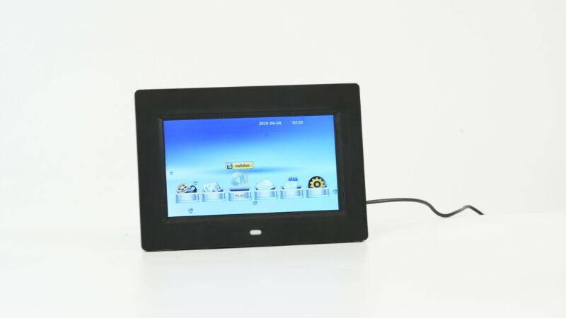 7 inch Video Player and Photo Display Frame - Black Finish USA SHIP