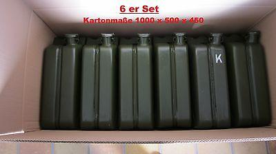 6 Stk. Bundeswehr 20 L Einheitskanister