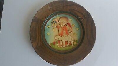 Vintage ANRI 1978 Christmas Plate LEADING THE WAY #1781 Edition 4000