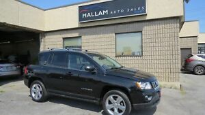 2012 Jeep Compass Limited 4 x 4, Power sunroof, Black leather...