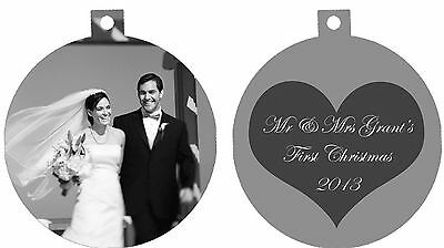 Black And White Wedding Ideas (Personalized Ornament custom gift idea Black white Wedding Photo Love)