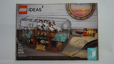 LEGO Ideas Ship in a Bottle Snap Together 962 pcs Model Ship 21313