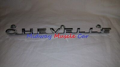 front CHEVELLE hood emblem w/ nuts 1967  67 Chevy Chevelle Malibu SS (Chevelle Hood Emblem)