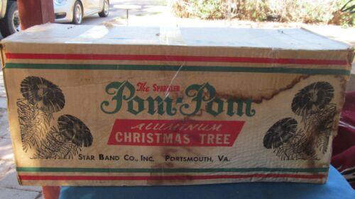 STAR BAND THE SPARKLER POM POM ALUMINUM CHRISTMAS TREE NOS 6 FT 91 BR M-691-E