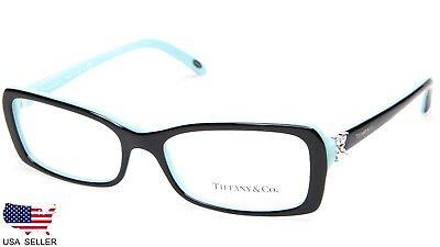 NEW TIFFANY & Co. TF 2091-B 8055 BLACK / BLUE EYEGLASSES 53-16-140 B30mm Italy