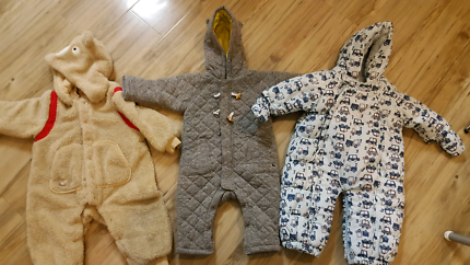 3x baby snow jump suits 12-18 months sell as bundles