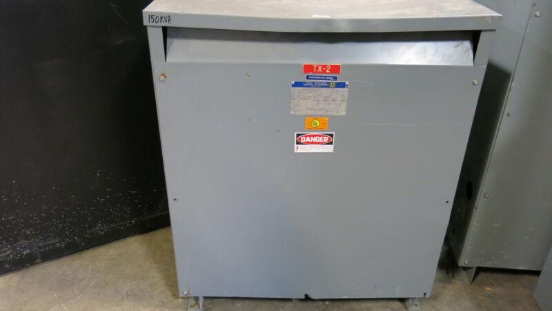 Square D 150T3HIS, 150 KVA, 480 X 120/208 Volt, 3 Phase, Transformer (OS)- T978