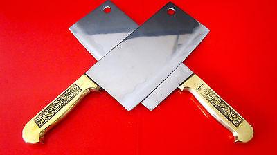 Messer Kochmesser Küchenmesser Asiatisches Messer Kupfergriff Drachen AAA