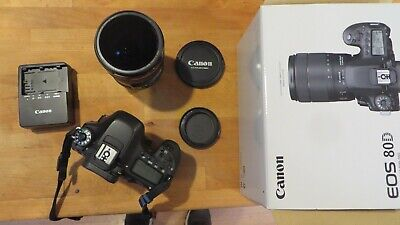 Canon EOS 80D 24.2MP Digital SLR with EF 24-105mm f/4 L IS USM Lens Lightly used