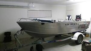 2011 quintrex 4.2 busta 2014 40hp mercury Rothwell Redcliffe Area Preview