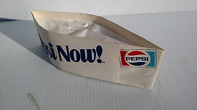 Pepsi Now ! Pepsi Paper Vendor Soda Jerk Hats - Lot of 2, NOS