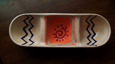 Vintage Desert Pepper Trading Company Pottery Salsa Condiment Tray INSPIRADO