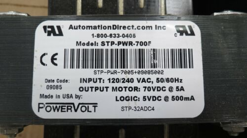 AUTOMATION DIRECT POWER SUPPLY STP-PWR-7005