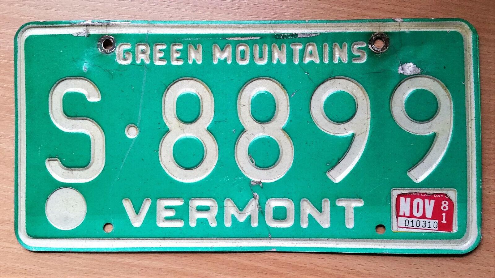 älteres VERMONT USA Nummernschild Kennzeichen License Plate Schild