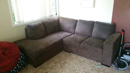 Brown corner lounge