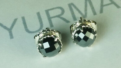 DAVID YURMAN STERLING SILVER CHATELAINE Earrings with Hematine