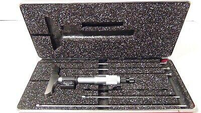 Starrett 446az-6rl Digital Micrometer Depth Gage 0-6 Range .001 Graduation