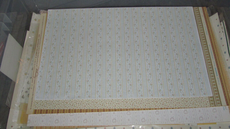 1980s Dollhouse Miniature 1:12 Scale Wallpaper Field Pattern - See 80+ More Here