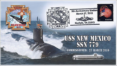 2015, USS New Mexico, 5th Anniv, Pictorial Postmark, US Navy, 15-061