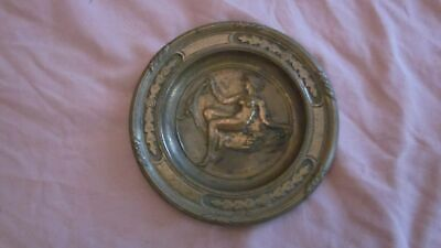 Antique Red Bronze Victorian Change Tray, with nude woman