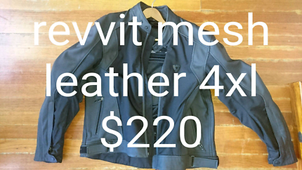 Motorcycle jacket revvit leather and mesh