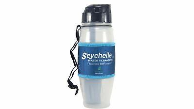 SEYCHELLE RADIOLOGICAL 28OZ FLIP TOP WATER FILTER BOTTLE REMOVES FLUORIDE *