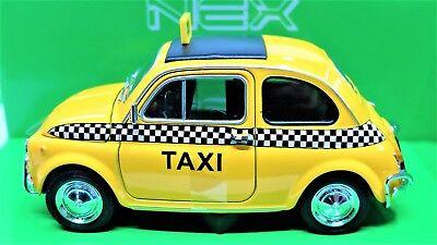 VEHÍCULOS DE JUGUETE AUTO FIAT 500 TAXI DE MUNDO 1:24 COCHE MODELO MINIATURAS