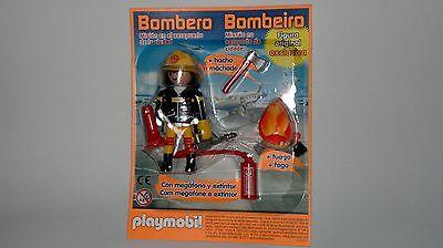 Playmobil Coleccion Figura Bombero con Accesorios y Fuego, Especial NUEVO