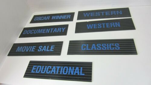 Lot 7 Vintage Video Rental Store Category Signs