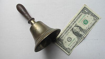 Great Brass Antique Victorian Teacher's School Bell, RECESS, Gift, c.1875