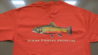 BROOK TROUT SHORT SLEEVE COPPER SIZE SMALL  CLOSEOUT SIMMS T