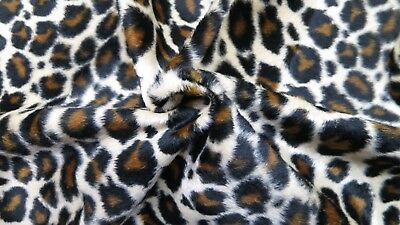 Velboa Fabric Leopard Print Short Pile Faux Fur 60