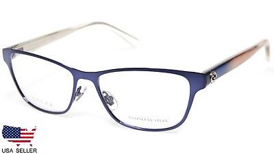 NEW GUCCI GG 4259 VO2 BLUE EYEGLASSES GLASSES FRAME 52-15-140 B34mm Italy