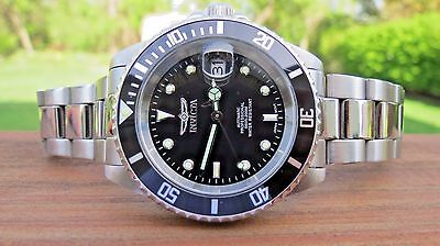Invicta Men's 89260b Pro Diver Automatic Watch Black Dial Stainless Steel
