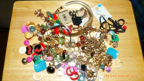 Jewelry Vintage - Modern Lot Craft, Wearable Sm Flat Rate Full Necklace Earrings