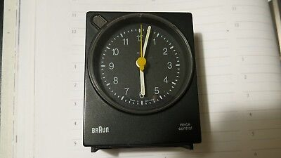 BRAUN Voice Control Quartz Travel Alarm Clock Made in Germany 4763/AB30VS Black