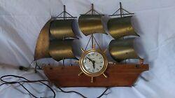 Vintage United Nautical Brass Ship Mantel Clock Model No.110