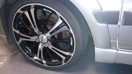 4x100 17inch advanti alloy wheels and tyres Middle Ridge Toowoomba City Preview