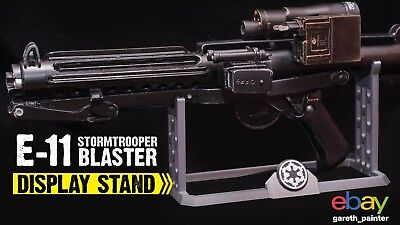 Stormtrooper E-11 Blaster holder stand Star Wars E11 Blastech  for sale  Shipping to United States