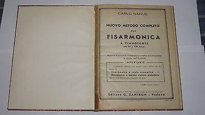 CARLO NANUS NUOVO METODO COMPLETO PER FISARMONICA A PIANOFORTE ED. ZANIBON