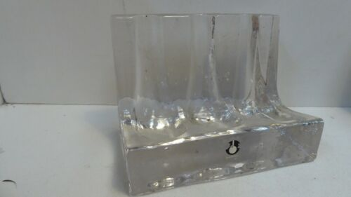 GLASS PUKENBERG SMOKING GLASS PIPE STAND REST VINTAGE MID CENTURY