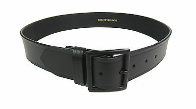Garrison Belt Police Uniform Black Buckle Size 40 Heavy 10oz Leather 1 34