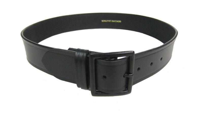 "Garrison Belt Police Uniform Black Buckle SIZE 40"" Heavy 10oz Leather 1 3/4"""
