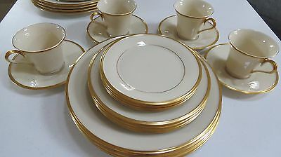 Lenox Eternal China - 5 pc place settings. (4 Sets, 20 pieces) Excellent.