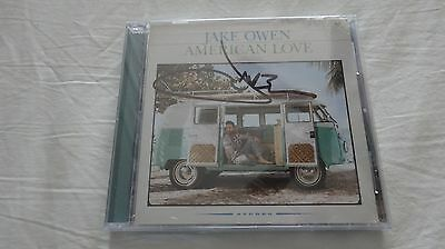 New Signed Jake Owen American Love cd Country Music Nashville Album Sealed - Love Country Pop Music