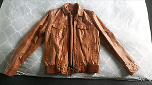 Leather Jacket in Tan By Industrie  NEVER WORN size medium Blacktown Blacktown Area Preview